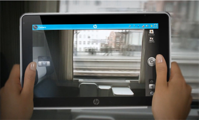 The HP Slate in live video mode
